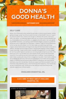 Donna's Good Health