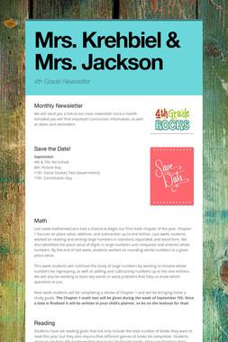 Mrs. Krehbiel & Mrs. Jackson