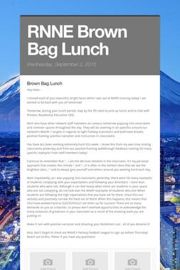 RNNE Brown Bag Lunch