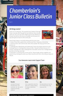 Chamberlain's Junior Class Bulletin