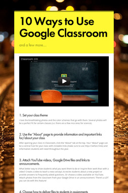 10 Ways to Use Google Classroom