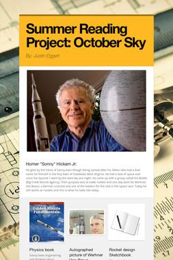 Summer Reading Project: October Sky