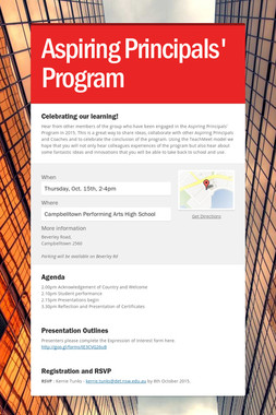 Aspiring Principals' Program