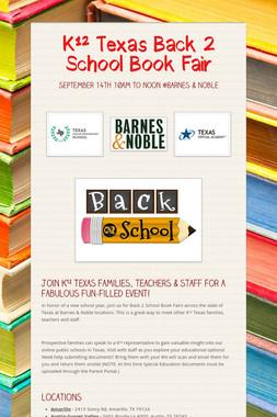 K¹² Texas Back 2 School Book Fair