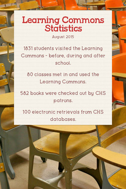 Learning Commons Statistics