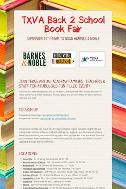 TXVA Back 2 School Book Fair