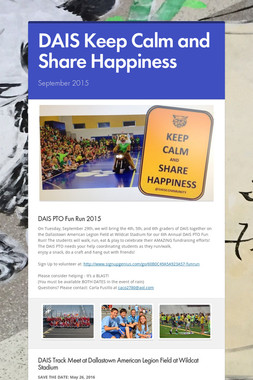 DAIS Keep Calm and Share Happiness