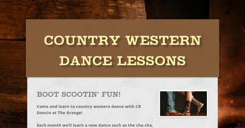 Country Western Dance Lessons