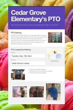 Cedar Grove Elementary's PTO