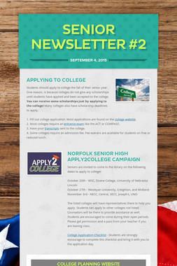 Senior Newsletter #2