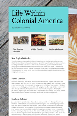 Life Within Colonial America
