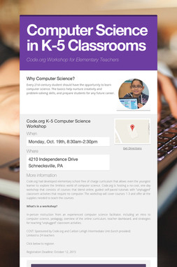 Computer Science in K-5 Classrooms