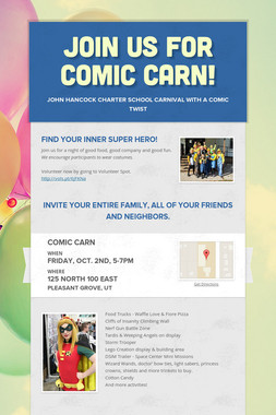 Join us for Comic Carn!