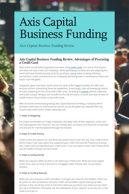 Axis Capital Business Funding