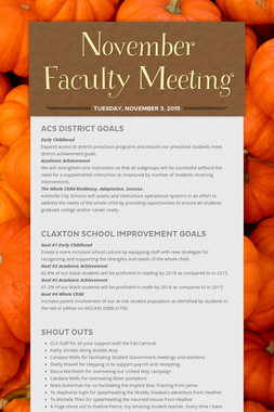 November Faculty Meeting