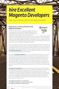 hire Excellent Magento Developers