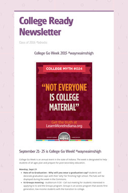 College Ready Newsletter