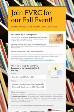 Join FVRC for our Fall Event!