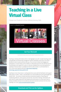 Teaching in a Live Virtual Class