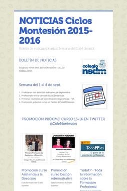 NOTICIAS Ciclos Montesión 2015-2016