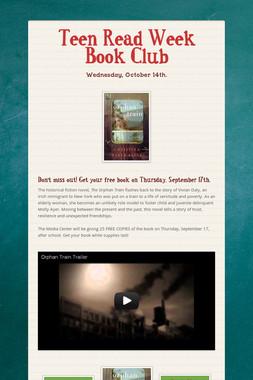 Teen Read Week Book Club