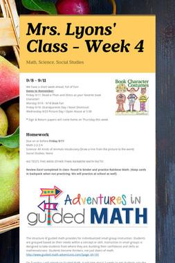 Mrs. Lyons' Class - Week 4