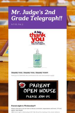 Mr. Judge's 2nd Grade Telegraph!!