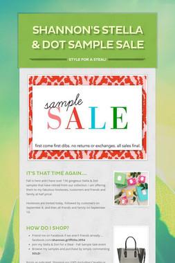 Shannon's Stella & Dot Sample Sale
