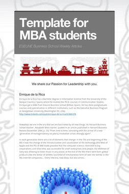 Template for MBA students