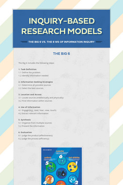 Inquiry-based Research Models