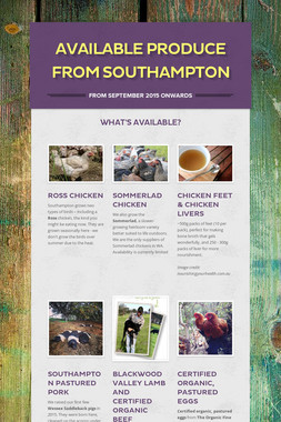 Available produce from Southampton