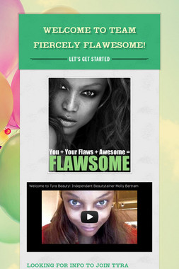Welcome to Team Fiercely Flawesome!