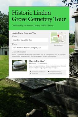 Historic Linden Grove Cemetery Tour