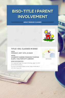 BISD-Title I  Parent Involvement