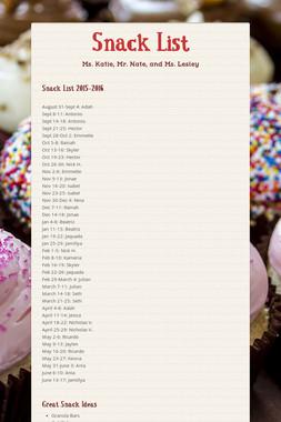 Snack List