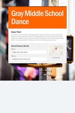 Gray Middle School Dance