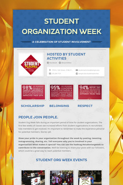 Student Organization Week