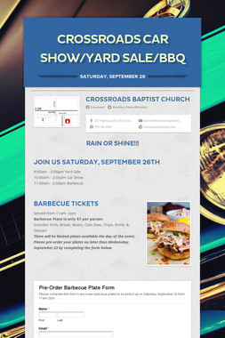 CrossRoads   Car Show/Yard Sale/BBQ
