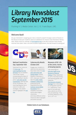Library Newsblast September 2015