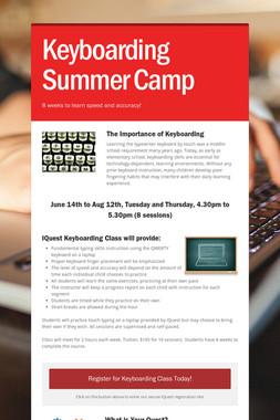 Keyboarding Summer Camp