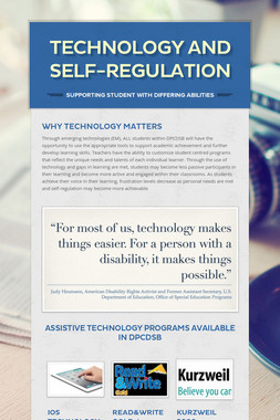 Technology and Self-Regulation