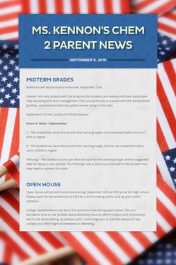 Ms. Kennon's Chem 2 Parent News