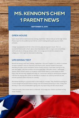 Ms. Kennon's Chem 1 Parent News