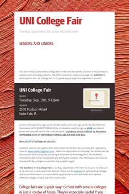 UNI College Fair