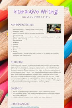 Interactive Writing!