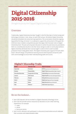 Digital Citizenship 2015-2016