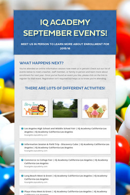 iQ Academy September Events!