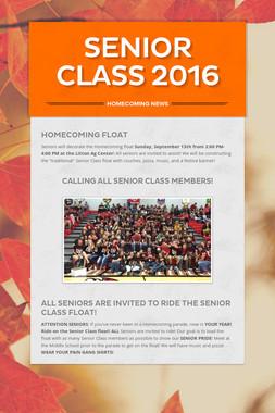 Senior Class 2016
