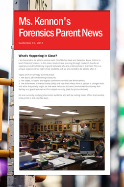 Ms. Kennon's Forensics Parent News