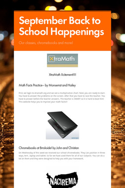 September Back to School Happenings